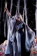 Wonder woman ... Karen O on stage in <em>Stop the Virgens</em>.