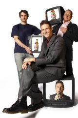 Todd Sampson, Wil Anderson and Russel Howcroft lend their sharp wit to <i>Gruen Sweat</i>.