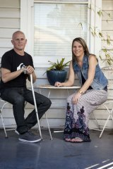 Risky treatment: Jason McIntyre, who has multiple sclerosis, with his wife, Kym.