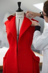 The bodice of Look 10, Bar coat, autumn-winter 2012-13, takes shape from April-May 2017.