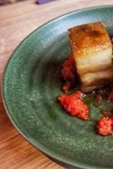 Sweet: Lucy Liu's rare breed sticky pork belly dish.