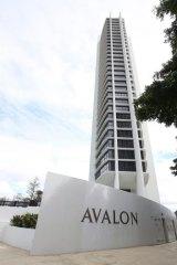 The Avalon apartments.
