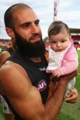 Tiger Bachar Houli with his daughter Sarah.