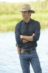 Timothy Olyphant in <i>Justified</i>.