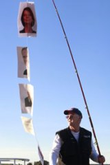 Hooked ... pro-fishing campaigner Jack Tait weighs in at Narooma yesterday.