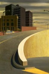 Jeffrey Smart's work, Cahill Expressway (1962).