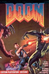 Shoot 'em up … a poster for the game Doom.