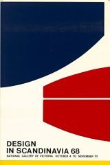 National Gallery of Victoria, Design in Scandinavia poster, 1968.