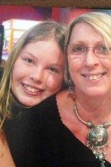 Inseparable: Yvana and her mother, Noelene Bischoff.