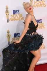 Christina Aguilera arrives at the MTV MovieAwards.