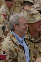 Troops appealed to Kevin Rudd.