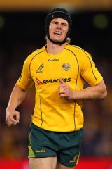 Big day out … Berrick Barnes had no time to scratch himself.