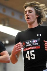 Dyson Heppell at the 2010 draft camp.