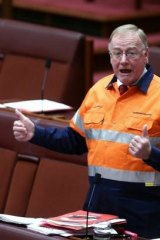 """Wrong here"": Liberal Senator Ian Macdonald, pictured in the Senate last month, has been criticised by a colleague over his attack on the PM."