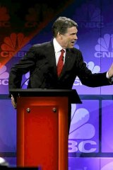 Rick Perry hones his debating skills.