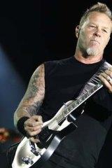 Metallica singer James Hetfield.