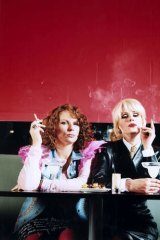 Jennifer as Edina and Joanna Lumley as Patsy in <i>Absolutely Fabulous</i>.
