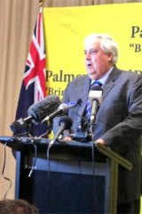 Clive Palmer speaking in Perth.