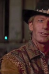 """""""That's not a knife; this is a knife"""": Paul Hogan in the original Crocodile Dundee."""