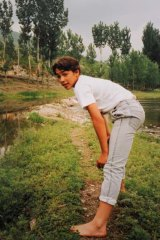 School days: As a child in China in 1986.