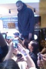 Kanye at Nandos.