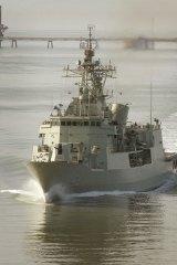 HMAS Parramatta on patrol in the North Persian Gulf.