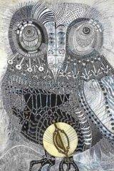 Fertility Owl - one of Joshua Yeldham's works.