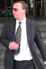 Bradley Walker outside court