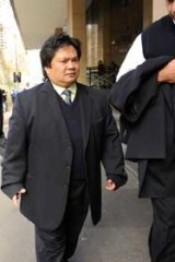 Ticket inspector Randy Diego at Melbourne Magistrates Court.