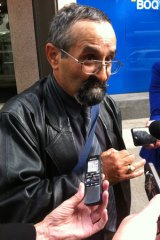 Raphael Ellul outside the royal commission into child sexual abuse.