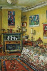 Olley's painting <i>Yellow Room, Afternoon</i>,  re-created house in the Tweed Regional Gallery.