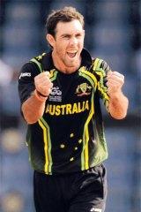 Glenn Maxwell celebrates taking a wicket in a World Twenty20 match.