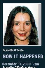 Timeline for Jeanette O'Keefe.