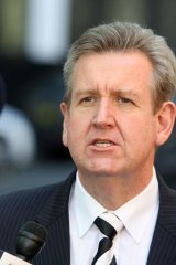 """Premier Barry O'Farrell ... """"I've not had a single conversation about these matters""""."""