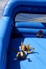 On the slide.