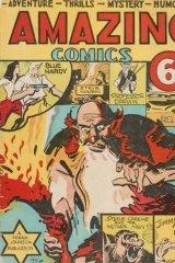 Unk (Cecil John) White, cover artwork, Amazing Comics, 1941. A Frank Johnson Publication, Sydney.