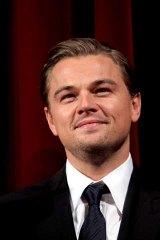 Heavily guarded ... Leonardo DiCaprio.