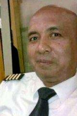 Scrutiny: Pilot Zaharie Ahmad Shah.