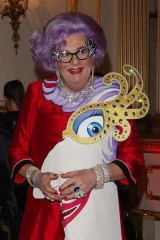 Dame Edna Everage, aka Barry Humphries will appear on Nine before and after the ceremony.