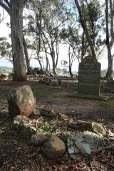 Part of the Pennyweight Flat cemetery at Castlemaine.
