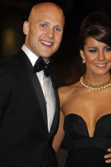 Geelong's Gary Ablett with partner Lauren Phillips at the Brownlow Medal.