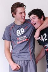 Vic Metro teammates Angus Brayshaw and  Darcy Moore.