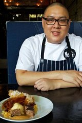 Dan Hong with his bacon-inspired Stoner's Delight.