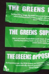 Another unauthorised anti-Greens poster.