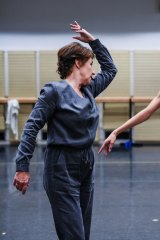 Wendy Ellis Somes instructs dancers Robyn Hendricks and Cristiano Martino.