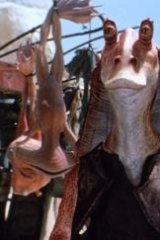 Awful result: Jar Jar Binks, the first fully digital lead character in a Star Wars movie (Episode 1, The Phantom Menace) showed how appalling a digital future might be.