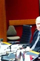 Michael Kirby and Kristina Keneally address the senate committee.