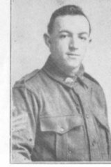 Gallipoli Trumpeter Ted McMahon. Picture taken after enlisting for World War I in 2015.