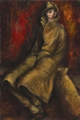 """Russell Drysdale, """"Soldier""""  (Australian War Memorial ID#ART92623) in """"Reality in flames: Modern Australian Art and the Second World War"""", Australian War Memorial,"""