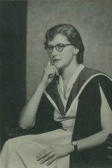 Elizabeth Wood-Ellem graduating with a BA in 1953.